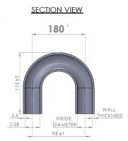 28mm Elbow - 180°
